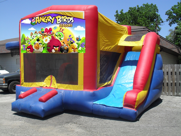 5in1 Angry Bords Combo Indianapolis Party Rentals